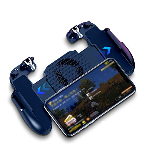 """ZWB Mobile Game Controller, Trigger Mobile Game Controller with Cooling Fan, Joystick Gamepad for 4-6.5"""" Mobile Phone (Color : Black)"""