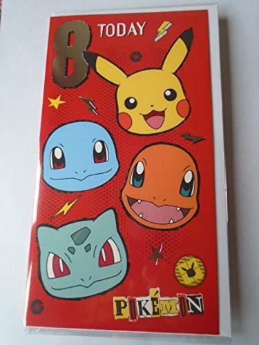 Pokemon Slim Red Age 8 Today Geburtstagskarte