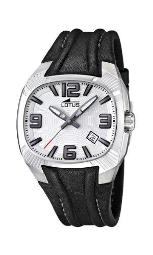 Lotus 15759/1 - Reloj analógico de Cuarzo para Hombre con Correa de Piel, Color Negro