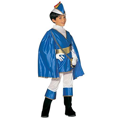 Widmann 38866 - Kinderkostüm Blauer Prinz, Größe 128