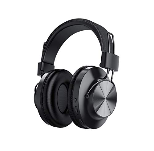 Nia Bluetooth 5.0 Over- Ear Wireless Headphones, FM Radio, MP3 Player and Micro SD/TF with 40mm Deep Bass Drivers, Premium Wireless Microphone Built-in Headset, Foldable, Comfortable Office Travel