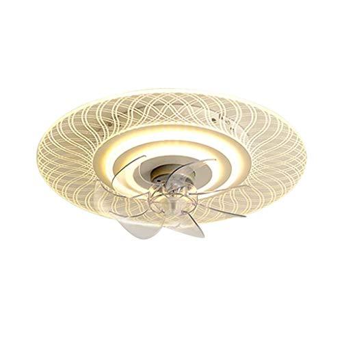 Ventilador de techo LED, luz de techo, luz de techo regulable moderna, control remoto, velocidad y sincronización ajustables, que se utiliza en la sala de estar, el dormitorio y la cocina [A + energ