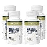NMN + Trans Resveratrol Cápsulas - Suplemento dietético de absorción superior 60 cápsulas - Apoya el envejecimiento saludable, NAD Cell Repair Booster (1 paquete) (4 PACK)