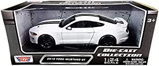 Motor Max 2018 Ford Mustang GT, White 79352WHBK - 1/24 Scale Diecast Model Toy Car