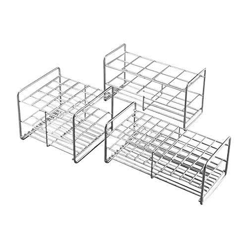 JINZFJG-SX Professional Laboratory Supplies Stainless Steel Test Tube Rack Generic Test Tube Holder 10-100 Well Lab Centrifuge Tube Rack