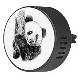Diffusore per auto per clip di sfiato dell'olio essenziale,Panda Hug Tronco dell'albero ,2 confezioni di deodoranti per ambienti con aromaterapia da 40 mm
