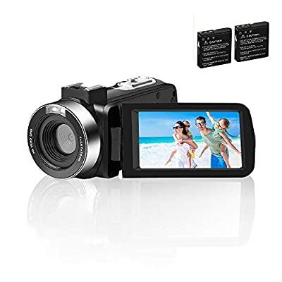 Video Camera Camcorder Comkes Digital vlogging Camera for YouTube Full HD 1080P 30FPS 30.0MP 18X Digital Zoom Camcorder with 2 Batteries and Remote Control from Comkes