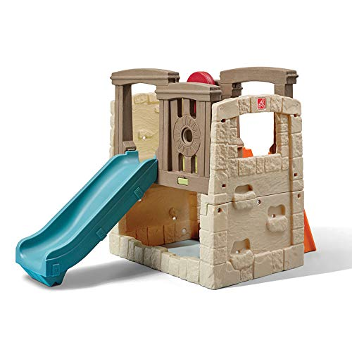 Step2 Naturally Playful Woodland Climber II | Kids Activity Climber Outdoor Playset, Brown & Blue
