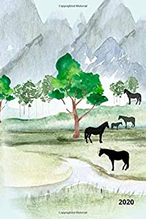 2020: Daily,  Weekly & Monthly Planner. 1.1 - 31.12. 2020 . Funny Novelty Planner with Nature & Horses Design. The perfect...