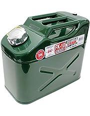 メルテック ガソリン携行缶 10L 縦型 消防法適合品 KHK UN [亜鉛メッキ鋼板] 鋼鈑厚み:0.8mm Meltec FK-10