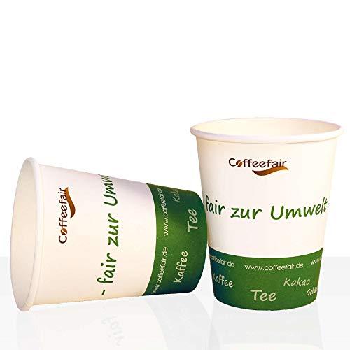Bio Coffee to go Becher von Coffeefair Hartpapier 0,2l, 1000Stk, Pappbecher, Kaffeebecher to go