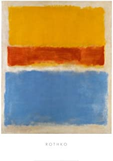 Untitled - Yellow, Red, Blue Art Poster Print by Mark Rothko, 24x32