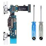 MMOBIEL Conector Dock Cargador Compatible con Samsung Galaxy S5 G900F de Repuesto. Puerto Micro USB Cable Flex con Adhesivo. Incluye Dos Destornilladores y Adhesivos