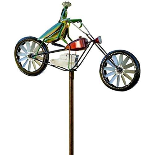 Lubudup Molino de viento con forma de animal, para motocicleta, 3D, para exteriores, juguete decorativo para camping, patio, jardín, fiesta, festival