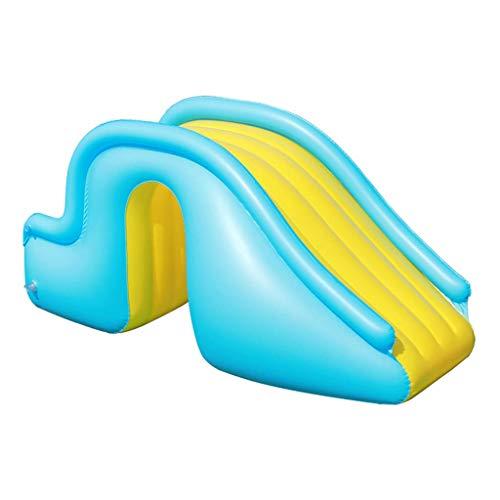 Mayi - Tobogán acuático pequeño, accesorios para niños, apto para interior/exterior/playa/piscina/jardín/patio trasero/verano para fiestas acuáticas, con bomba de pie