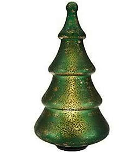 Illuminated Sponge Effect Mercury Glass Tree by Valerie / Green