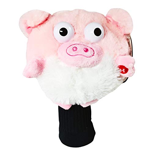 Golf Pals Goofball Pig Head Cover Fits 460cc Drivers Spinning Eyes and Sounds