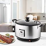 ONVAYA® - Olla para ahumar eléctrica de acero inoxidable, diferentes niveles de cocción, horno de ahumado eléctrico en plata y negro