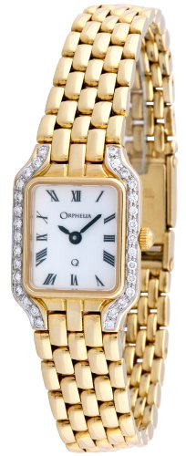Orphelia Ladies Watch Mon-7027 – 18 K Gold Diamonds cts 0.3 – Analogue Quartz – White Dial – Bracelet 18 K Yellow Gold