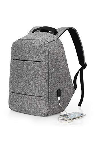 """Mochila Antirrobo D&P-Gris portátil 15,6 """"tablet hasta 10""""- USB (gris)"""