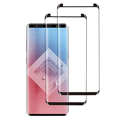 [2 Stück] Panzerglas für Samsung Galaxy S9, HD Panzerglasfolie für Samsung S9, Volle Abdeckung, Anti-Scratch, Anti-Fingerabdruck, Fallfreundlich Displayschutzfolie