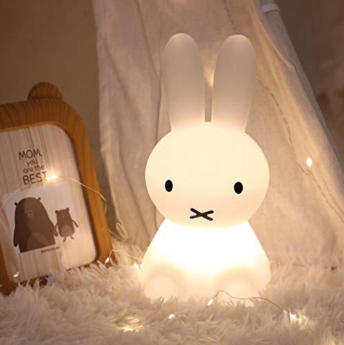 Miffy Führte Nachtlicht, Kinder Leuchtende Spielzeug Silikon Schlafzimmer Dekoration Kaninchen Bunte Nachtlicht, Geeignet Für Kindergeschenke, Innendekoration, Nachttischlampen, Tischlampen (50CM)