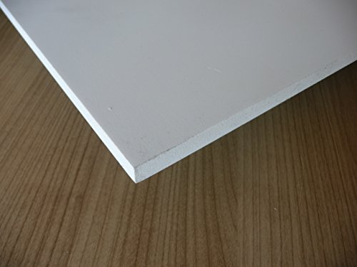 Platte aus PVC Hartschaum, 1000 x 500 x 10 mm weiß Zuschnitt alt-intech® Reststücke