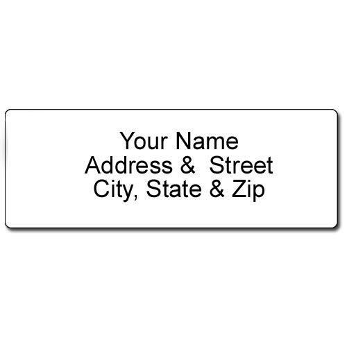 Personalized Blank White Address Label - Customized Return Address Label - 90 Labels