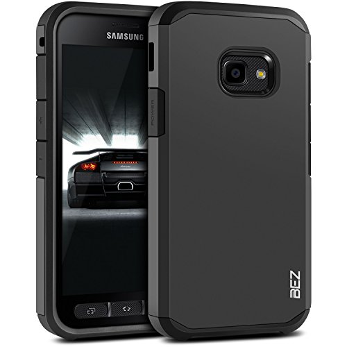 BEZ® Hülle für Xcover 4 Hülle, Xcover 4S Hülle, Handyhülle Stoßfestes Kompatibel für Samsung Galaxy Xcover 4 / 4s, [Heavy Duty Serie] Outdoor Dual Layer Armor Case Handy Schutzhülle Robuste - Schwarz