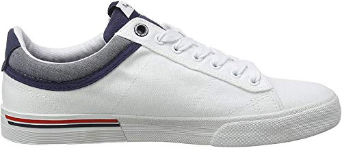 Pepe Jeans London Herren North Court Sneaker, Weiß (800white 800), 42 EU