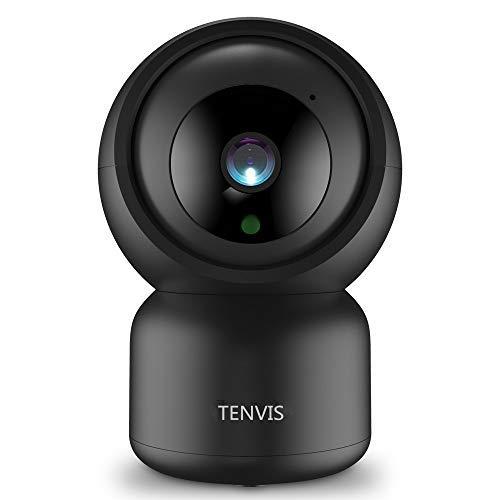 Cámara de Vigilancia - TENVIS Cámara IP 1080P, Cámara Wi-Fi de Seguridad Funcion con Alexa, Audio Bidireccional, Versión Nocturna, Detección de Movimiento,Alarma Remota,Ideal para Hogar/Bebé/Mascota