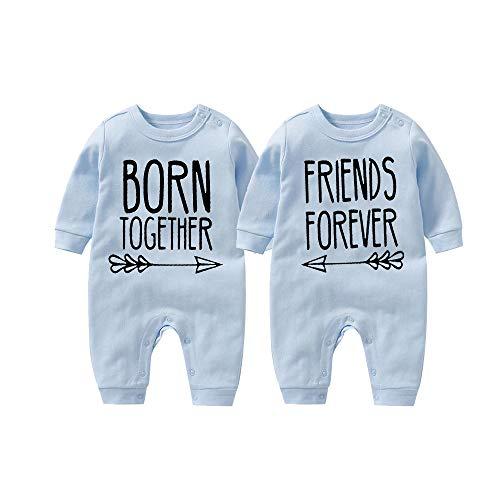 culbutomind Beste Freunde Für Immer Fun Baby-Strampler Baby Geschenke Geburt Erstausstattung(bule1 4-6 Months)