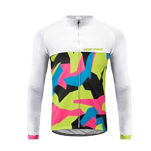 Future Sports UGLYFROG Maillot Ciclismo Hombre, Maillot Bicicleta Hombre, Camiseta Ciclismo con Manga Larga