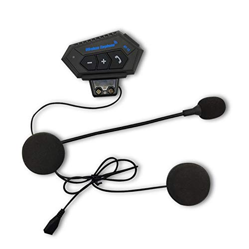 Faderr Auriculares Bluetooth para motocicleta, BT-12 Bluetooth estéreo suave con micrófono casco de alta calidad de sonido Auriculares Bluetooth impermeables para moto deporte manos libres (negro)