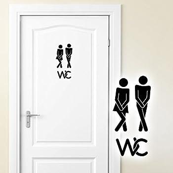 Mann Frauen WC Aufkleber Adhesive Aufkleber Dekoration Wandtattoos Wandbilder