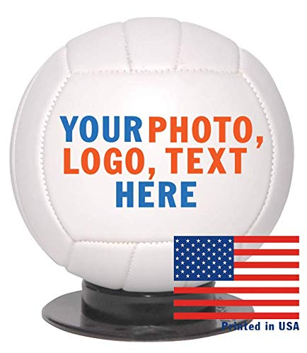 Amazon Com Custom Personalized Mini Volleyball 6 Inch Mini Sized Volley Ball Ships In 3 Business Days High Resolution Photos Logos Text On Volleyballs For Trophies Personalized Gifts Sports Outdoors
