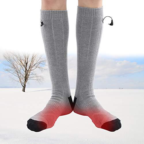 Calcetines térmicos con calefacción, calcetines térmicos con calefacción eléctrica recargable calentadores de pie de invierno para hombres mujeres invierno deportes de esquí al aire libre