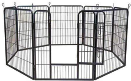 MYPETS Welpenfreigehege Young Dogs Größe M 80x60 8 Elemente der Marke Laufgitter Welpenauslauf Freigehege