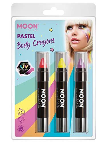 Smiffys Moon Glow Intense Neon UV Body Crayons