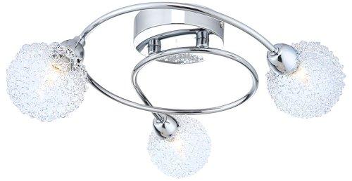 Deckenstrahler Deckenleuchte Deckenlampe Chrom Aluminium modern G9 Globo ORINA 56624-3