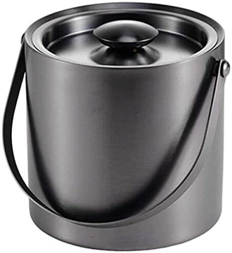 PXY Cubo de Hielo Portátil Práctico Y Seguro Cubo de Acero Inoxidable para Bebidas Frías Cubo de Azúcar Tipo Abatible Cubo de Sopa Barril de Té con Leche Barril de Bebidas, Adecuado para Barba