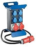 as - Schwabe Tragbarer CEE-Stromverteiler STECKY 1 – CEE-Stecker + 4 Schuko-Dosen + 2 CEE-Buchsen...