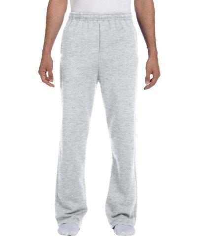 Jerzees Men's Elastic Waist Open Bottom Pocket Sweatpant_Ash_Large