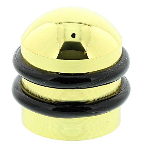 BURG-WÄCHTER Boden-Türstopper, Höhe: 37 mm, Durchmesser: 35 mm, Inkl. Befestigungsmaterial, TSB 2235 MP SB, Messing poliert