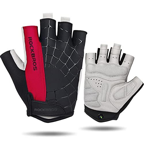 Fahrradhandschuhe Herren Damen Gel Fingerlose Handschuhe MTB Handschuhe für Mountainbike Radsport Training Fitness