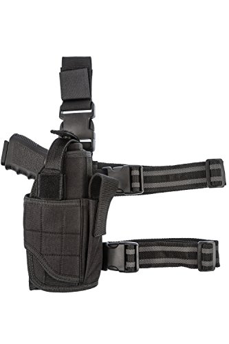 CCW Tactical Leg Holster - Wrap Around Thigh Design for Men...