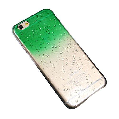 Modo graduale cambiamento di colore goccia di pioggia dura custodia ultrasottile in pelle per iPhone 6S49500, PLASTICA, Green, per iPhone 6