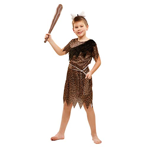 My Other Me-201129 Disfraz de troglodita aventurero para niño, 7-9 años (Viving Costumes 201129)