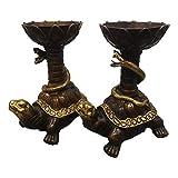 LAOJUNLU - Juego de mesas de cera de bronce dorado con imitación de bronce antiguo de la colección de joyas de estilo tradicional chino solitario