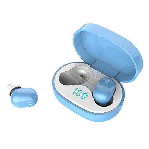YYQLLXH Auriculares Bluetooth inalámbricos 5.0 Deportes Impermeables Semi-en-oído teléfono Inteligente estéreo Universal TWS